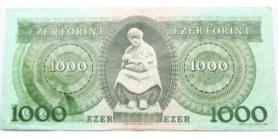 1000 forint 1993 nyomtatási hibás RR!