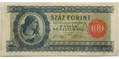 100 forint 1946 0 szériás Minta R!