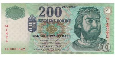 200 Forint 1998 FA sor Minta