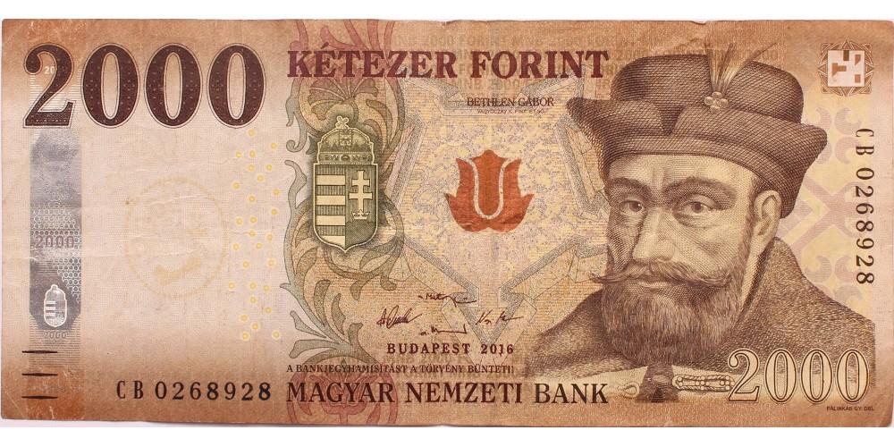2000 forint 2016 hibás UV jel