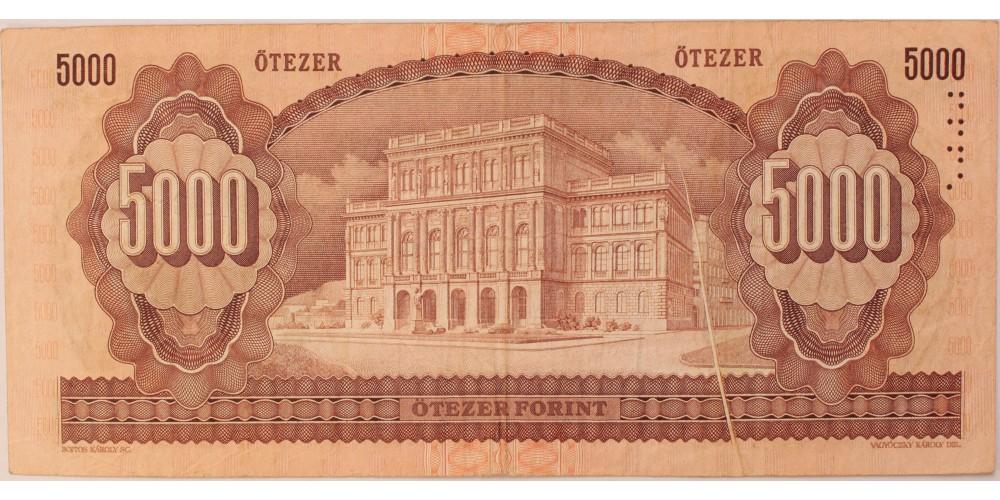 5000 forint 1992 papír gyűrődés !