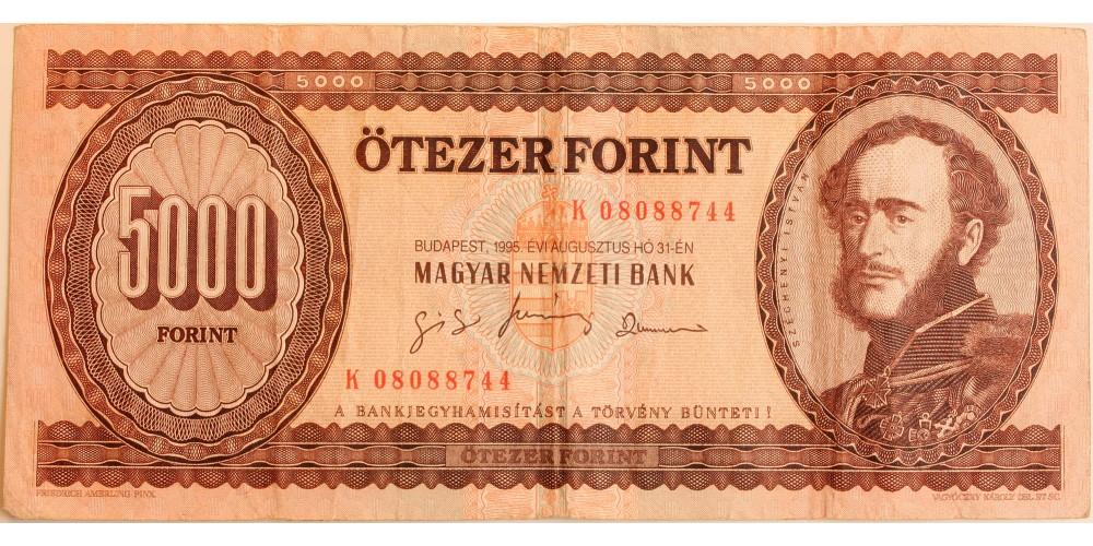 5000 forint 1995 K sorozat