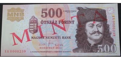 500 Forint 2011 Minta
