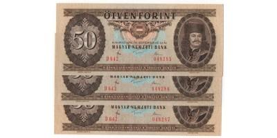 50 Forint 1980 3db sorszámkövető
