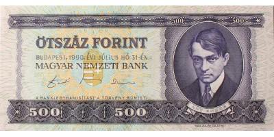 500 forint 1990