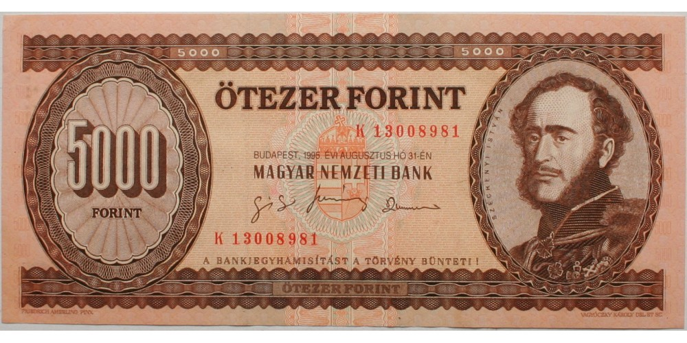 5000 forint 1995 K