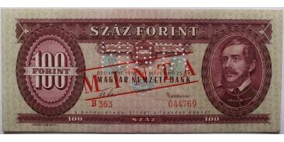 100 Forint 1957 Minta
