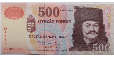 500 Forint 1998 EA Minta