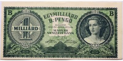 1 Milliárd B-Pengő 1946