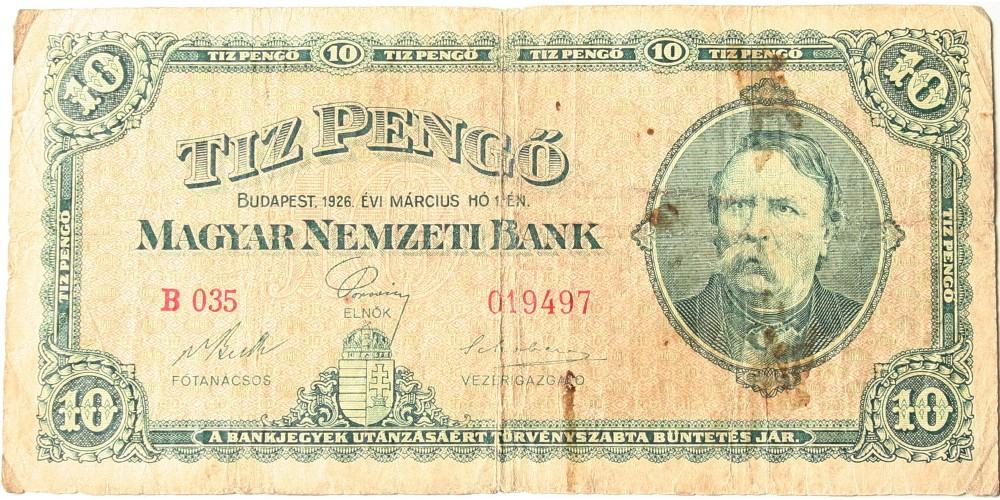 10 pengő 1926 RR!