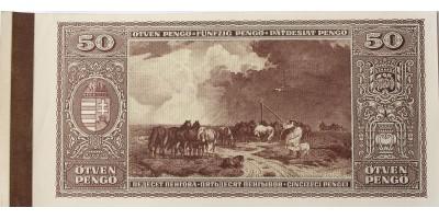 50 pengő 1945 hátlapi nyomat