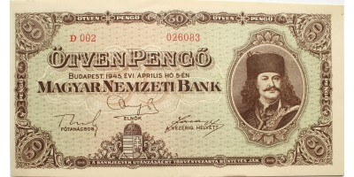 50 pengő 1945