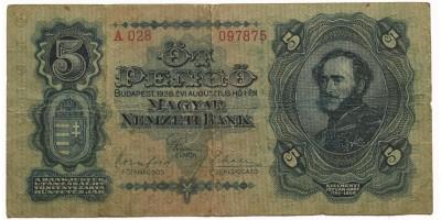 5 pengő 1928 RR!