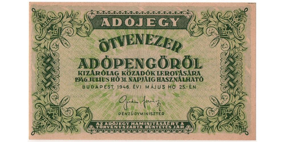 50 000 Adópengő 1946
