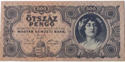 """500 pengő 1945 hibás orosz """"P"""""""