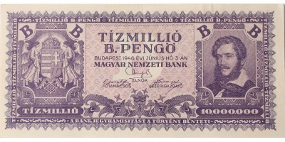 10 millió B-pengő 1946