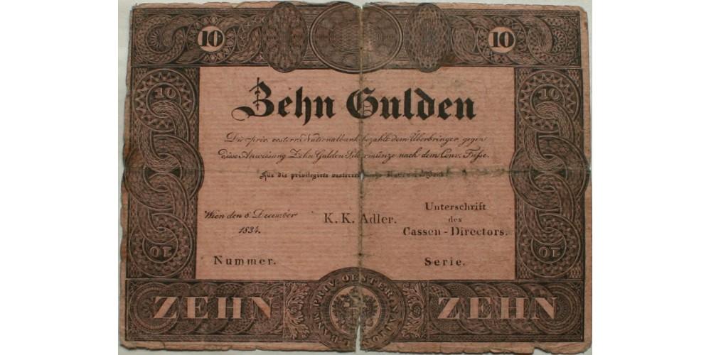 10 gulden 1834 RR!