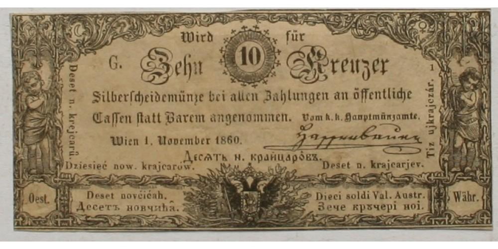 10 krajcár 1860
