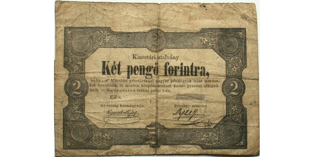 2 forint 1849 hátlap nélkül RR!