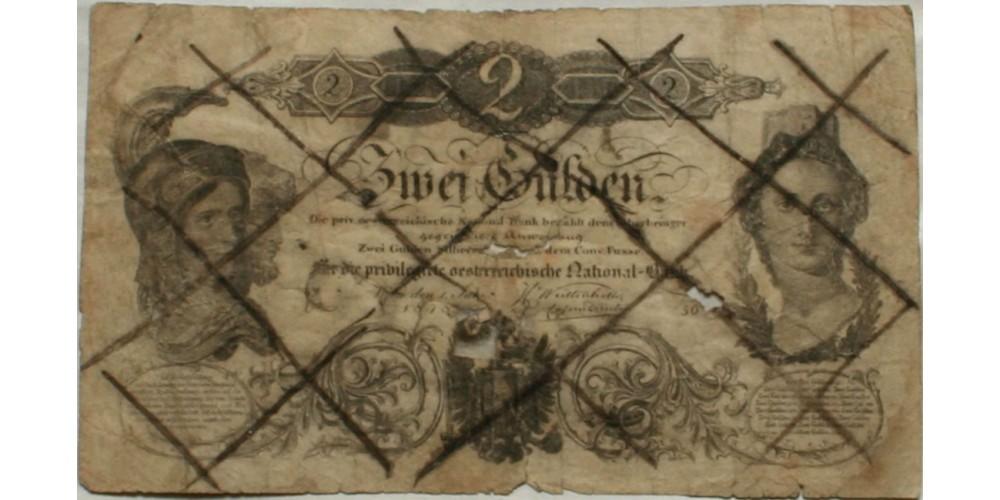 2 gulden 1848 érvénytelenítve R!