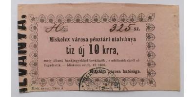 Miskolc 10 krajcár 1860
