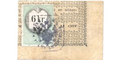 1 forint 1848 negyedbe vágott R!