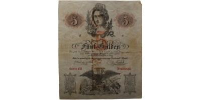 5 gulden 1859 korabeli hamis