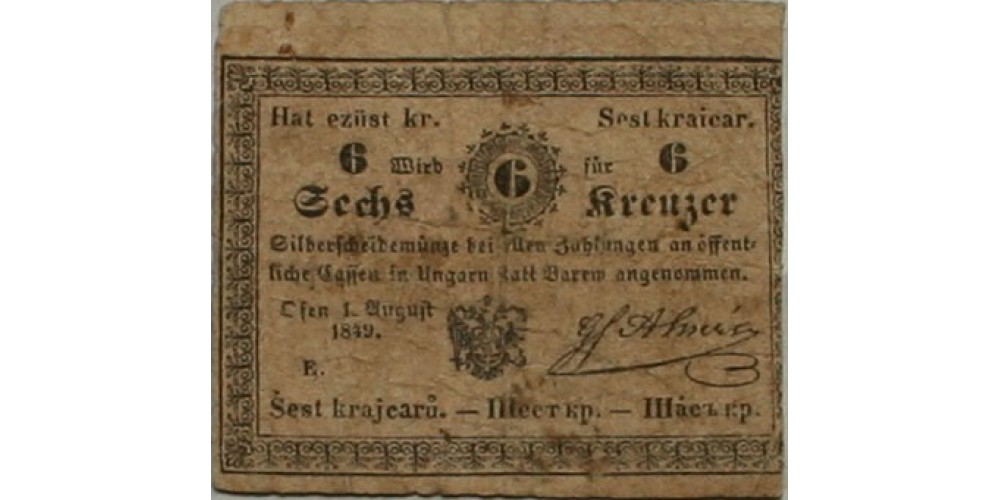 Almásy 6 krajcár 1849
