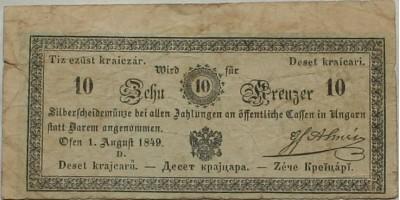 Almásy 10 krajcár 1849