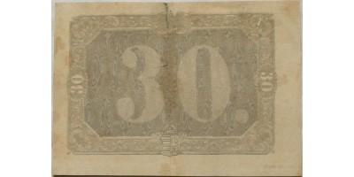 Arad 30 pengő krajcár 1849 RR!