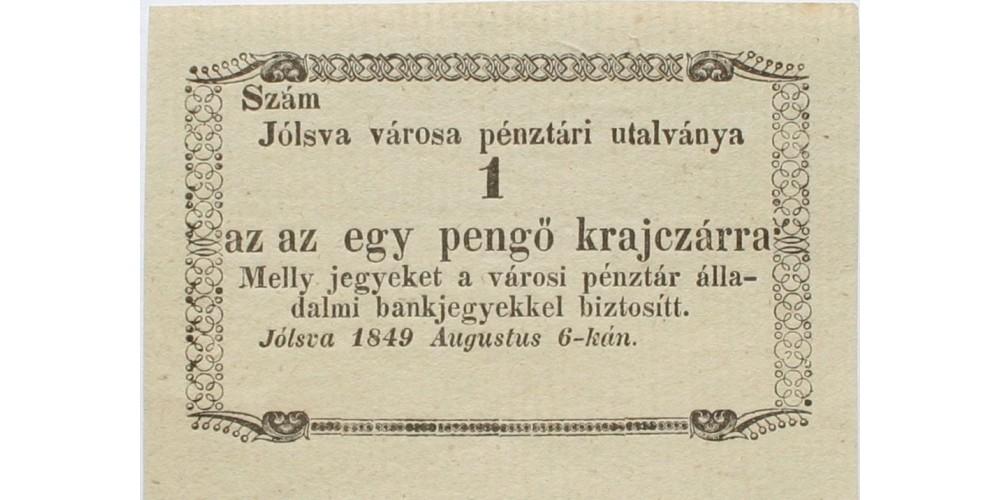 Jólsva 1 pengő krajcár 1849 R!