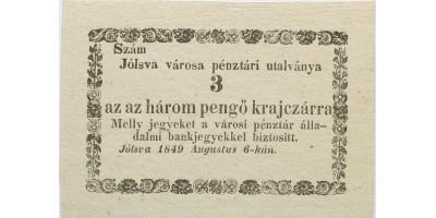 Jólsva 3 pengő krajcár 1849 R!