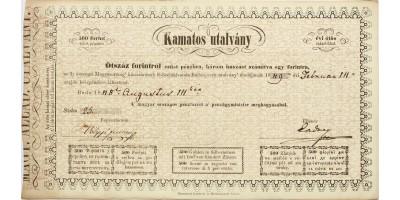 Kamatos utalvány 500 forint 1848