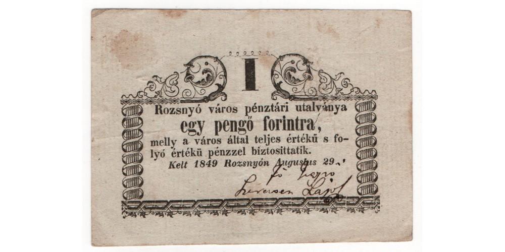 Rozsnyó 1 pengő forint 1849