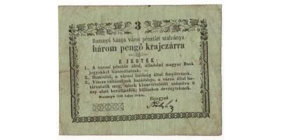 Rozsnyó 3 pengő krajcár 1849