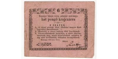 Rozsnyó 6 pengő krajcár 1849