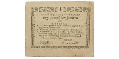 Rozsnyó 1 pengő krajcár 1849