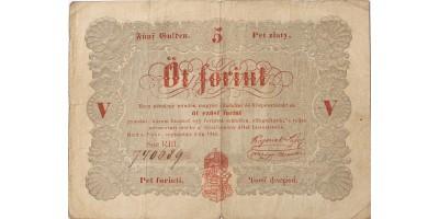 """5 forint 1848 """"Országgyűlési Múzeum"""""""