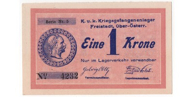 Freistadt hadifogolytábor 1 Krone