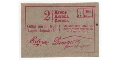 Hajmáskér hadifogolytábor 2 korona 1916
