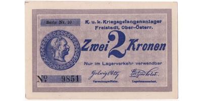Freistadt hadifogolytábor 2 Kronen