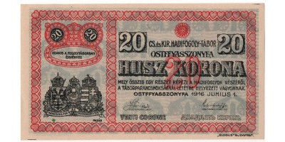 Ostffyasszonyfa hadifogolytábor 20 korona 1916
