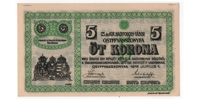 Ostffyasszonyfa hadifogolytábor 5 korona 1916