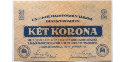 Dunaszerdahely hadifogolytábor 2 korona 1916
