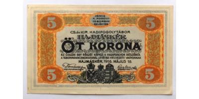 Hajmáskér hadifogolytábor 5 korona 1916