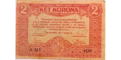 Kecskemét 2 korona 1919