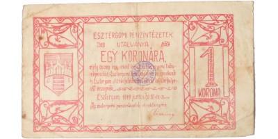 Esztergom 1 korona 1919
