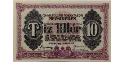 Nezsider hadifogolytábor 10 fillér 1916