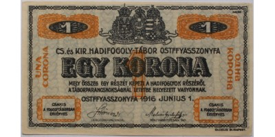Ostffyasszonyfa hadifogolytábor 1 korona 1916