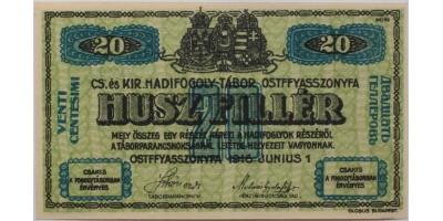 Ostffyasszonyfa hadifogolytábor 20 fillér 1916